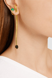 Rot gold-plated emerald ear cuff
