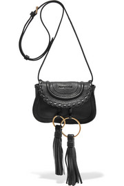 See by Chloé Polly tasseled textured-leather shoulder bag