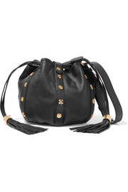 See by Chloé Vicki embellished textured-leather bucket bag