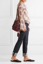 See by Chloé Vicki embroidered suede bucket bag