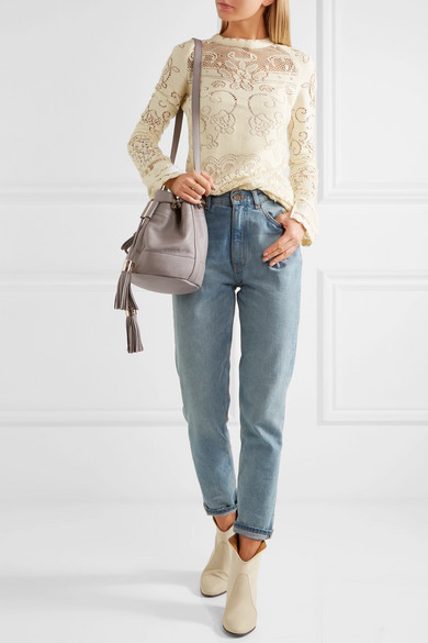 6bf70d725a26d See By Chloé | Vicki textured-leather bucket bag | NET-A-PORTER.COM