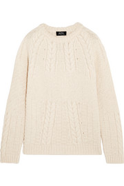 A.P.C. Atelier de Production et de Création Ennis cable-knit alpaca, cotton and merino wool-blend sweater