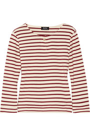 A.P.C. Atelier de Production et de Création Veronica striped cotton-jersey top
