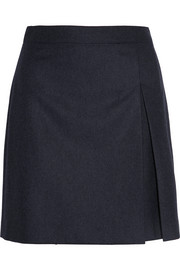 A.P.C. Atelier de Production et de Création Pleated wool-flannel mini skirt