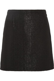 Ada metallic jacquard mini skirt