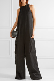Rick Owens Oversized silk and wool-blend jumpsuit