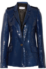 Sequined crepe jacket