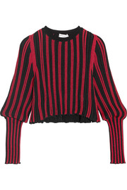 Sonia Rykiel Metallic striped stretch-knit top