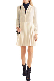 Sonia Rykiel Pleated silk-crepe mini dress