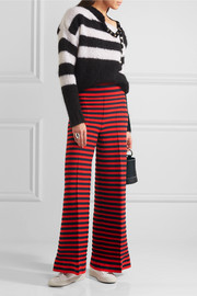 Sonia Rykiel Striped knitted wide-leg pants