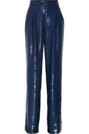 Sonia Rykiel Sequined crepe wide-leg pants
