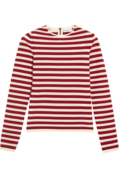 Sonia Rykiel - Striped Knitted Sweater - Red