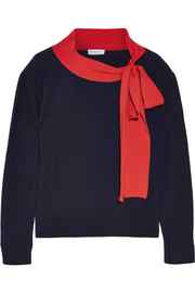 Sonia Rykiel Pussy-bow wool and cashmere-blend sweater