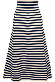 Sonia Rykiel Striped knitted midi skirt
