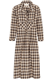 The Popover checked cotton dress