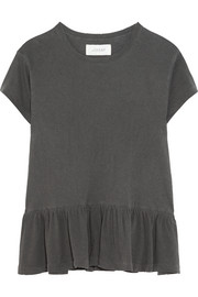 The Ruffle slub cotton-jersey T-shirt