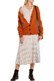 Raquel Allegra Big Sweep tie-dyed cotton-blend jersey dress