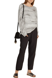 Raquel Allegra Tie-dyed cotton-terry sweatshirt