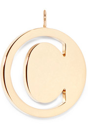 Chloé Alphabet gold-plated bag charm
