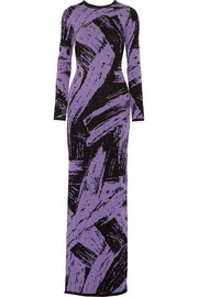 Sibling Intarsia wool maxi dress