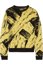 Sibling Paint intarsia wool sweater