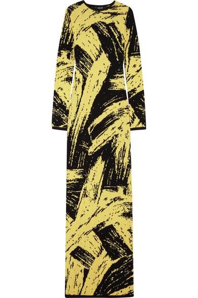 Sibling - Intarsia Wool Maxi Dress - Pastel yellow