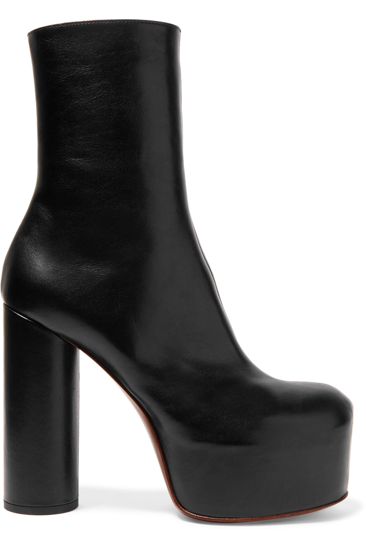 Vetements Leather platform ankle boots