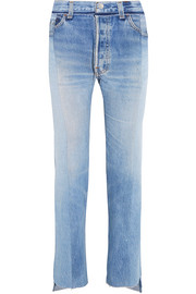 Reworked high-rise slim-leg jeans