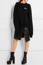 Oversized embroidered cotton-jersey sweatshirt