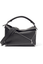 Puzzle Zips leather shoulder bag