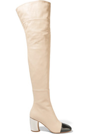 Proenza Schouler Two-tone leather over-the-knee boots