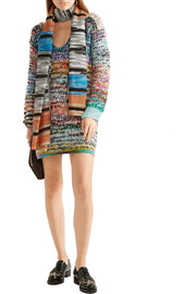 Missoni Oversized mélange cashmere and wool-blend sweater dress