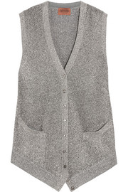 Missoni Metallic crochet-knit vest