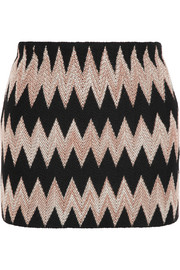 Missoni Wool-blend crochet-knit mini skirt