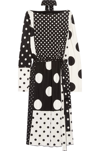 marc jacobs female 188971 marc jacobs polkadot stretchjersey dress black