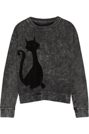 Marc Jacobs Appliquéd loopback cotton-jersey sweatshirt
