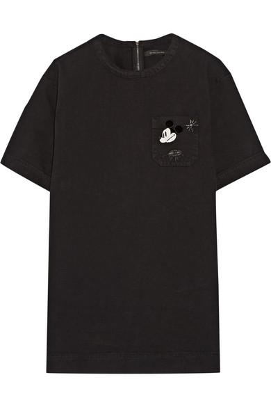 marc jacobs female 188971 marc jacobs embellished denim tshirt dress black