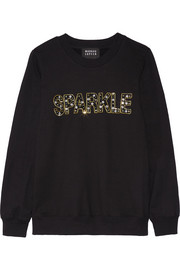 Markus Lupfer Anna embellished cotton sweatshirt