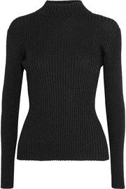 Markus Lupfer Rosie metallic ribbed-knit sweater