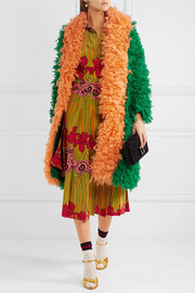 Gucci Two-tone mohair-blend coat