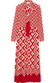 Gucci Printed silk crepe de chine maxi dress