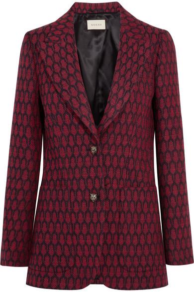 Gucci - Woven Wool Blazer - Red