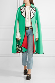 Gucci Printed wool-felt cape
