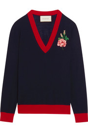Gucci Embroidered merino wool sweater