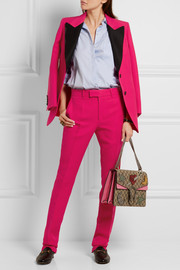 Gucci Wool and silk-blend crepe straight-leg pants