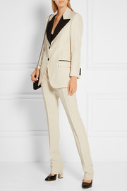 Gucci Wool and silk-blend faille straight-leg pants