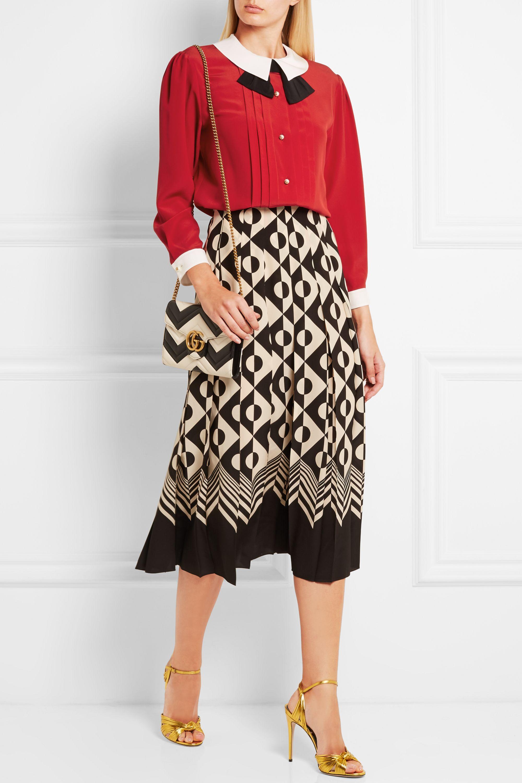 Gucci Pleated silk crepe de chine blouse