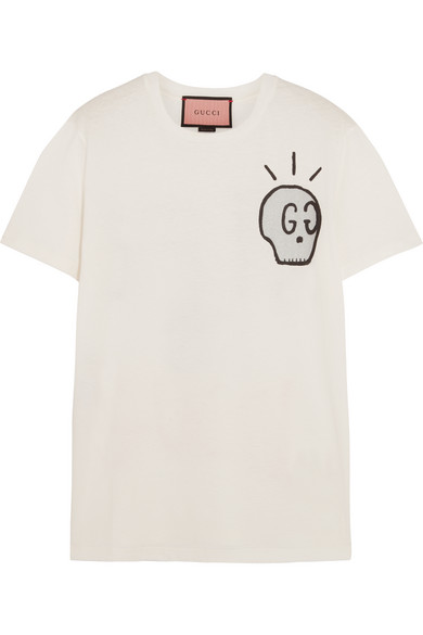 Gucci - Life Is Gucci Printed Cotton-jersey T-shirt - White