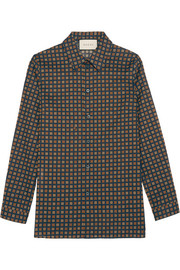 Gucci Printed cotton-poplin shirt