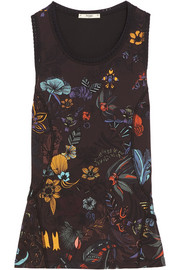 Fendi Printed stretch-jersey tank